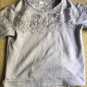 Gap kids sweat shirt with lace detail